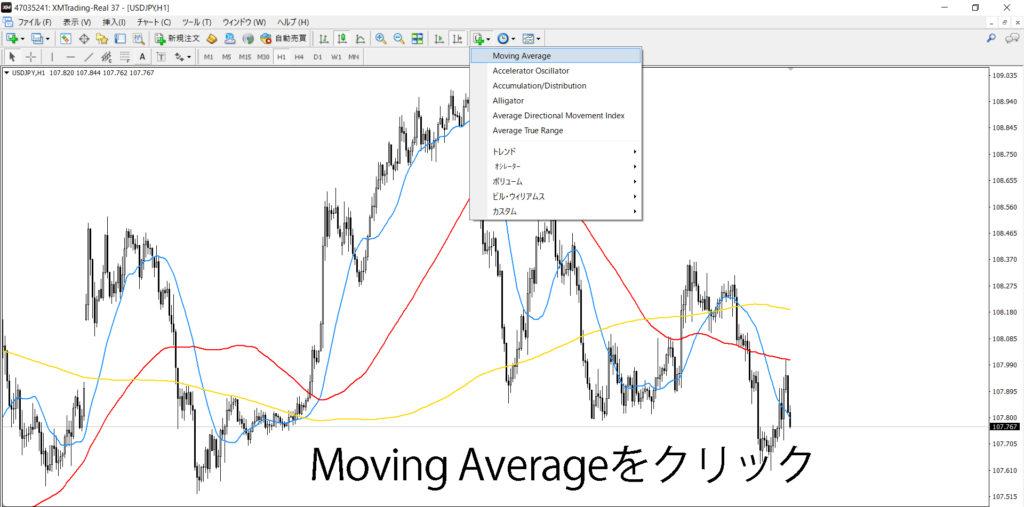 MT4移動平均線カラー選択